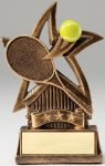 Star Series Sculpted Antique Gold Tennis Resin Trophy  Star Series Sculpted Antique Gold Resin Trophy Awa