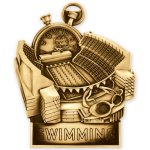 Swimming Standup Medal Swimming Trophy Awards