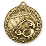 2 3/4 Swimming Wreath Medallion Swimming Trophy Awards