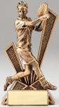 Checkmate Series Sculpted Antique Gold Tennis - Male Resin Trophy  Tennis Trophy Awards