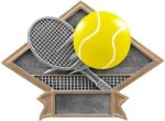 Tennis Diamond Plate Resin  Tennis Trophy Awards