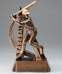 Ultra Action Series Sculpted Antique Gold Baseball - Male Resin Trophy  Ultra Action Resin Trophy Awards