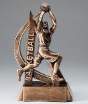 Basketball Resin Trophy, Male Ultra Action Resin Trophy Awards