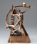 Volleyball Resin Trophy, Female Ultra Action Resin Trophy Awards