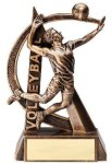 Volleyball Resin Trophy, Male Ultra Action Resin Trophy Awards