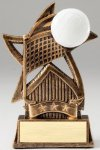 Star Series Sculpted Antique Gold Volleyball Resin Trophy  Volleyball Trophy Awards