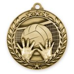 2 3/4 Volleyball Wreath Medallion Volleyball Trophy Awards