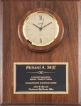 Genuine Walnut Clock Plaque Wall Clocks