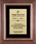 Genuine Walnut Frame with a Satin Finish Walnut Plaques