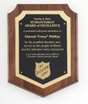 Genuine Walnut Plaque with Satin Finish Walnut Plaques