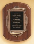 American Walnut Plaque with Antique Bronze Frame Wreath Awards
