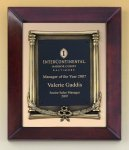 Cherry Finish Wood Frame Plaque with Wreath Wreath Awards